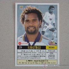 Cromos de Fútbol: FICHAS LIGA 2000 Nº 29 KAREMBEU REAL MADRID 99-00 MUNDICROMO 1999-2000 NUEVO. Lote 221703097