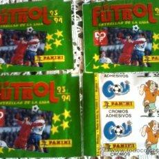 Cromos de Fútbol: SOBRES SIN ABRIR 4 SOBRE 93 94 FUTBOL LIGA PANINI NUEVOS. Lote 164312392