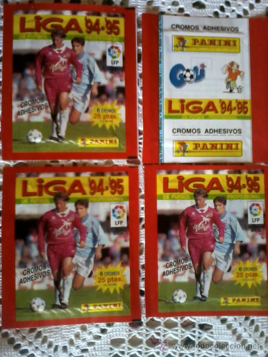 SOBRES SIN ABRIR 4 SOBRE 94 95 FUTBOL LIGA PANINI NUEVOS (Coleccionismo Deportivo - Álbumes y Cromos de Deportes - Cromos de Fútbol)