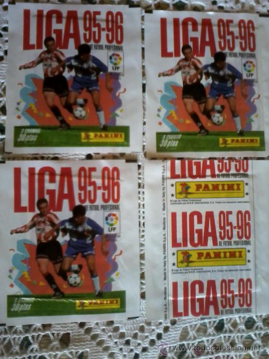 SOBRES SIN ABRIR 4 SOBRE 95 96 FUTBOL LIGA PANINI NUEVOS (Coleccionismo Deportivo - Álbumes y Cromos de Deportes - Cromos de Fútbol)