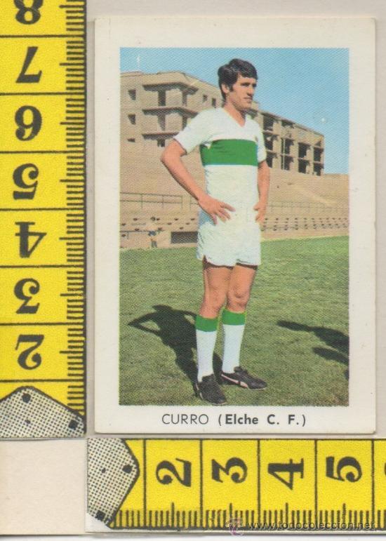 CROMO DE FUTBOL DEL ELCHE C.F. JUGADOR CURRO ALICANTE ALBUM LIGA 1970/1971 EDITORIAL FHER (Coleccionismo Deportivo - Álbumes y Cromos de Deportes - Cromos de Fútbol)