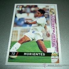 Cromos de Fútbol: 72 MORIENTES REAL MADRID CROMOS ALBUM MUNDICROMO FICHAS LIGA FUTBOL 98-99 1998-1999. Lote 152387712
