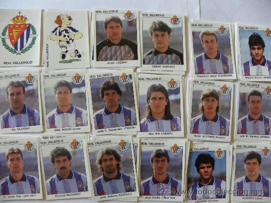 LIGA 93 94 PANINI REAL VALLADOLID EQUIPO COMPLETO 18 CROMOS NUEVOS (Coleccionismo Deportivo - Álbumes y Cromos de Deportes - Cromos de Fútbol)
