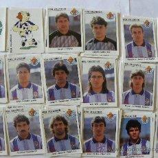 Cromos de Fútbol: LIGA 93 94 PANINI REAL VALLADOLID EQUIPO COMPLETO 18 CROMOS NUEVOS . Lote 28558378