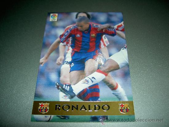 444 RONALDO TROFEO PICHICHI F.C. BARCELONA CROMOS ALBUM MUNDICROMO LIGA FUTBOL 1997 1998 97 98 (Coleccionismo Deportivo - Álbumes y Cromos de Deportes - Cromos de Fútbol)