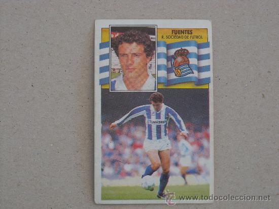 ESTE 90-91 FUENTES REAL SOCIEDAD 1990-1991 (Coleccionismo Deportivo - Álbumes y Cromos de Deportes - Cromos de Fútbol)