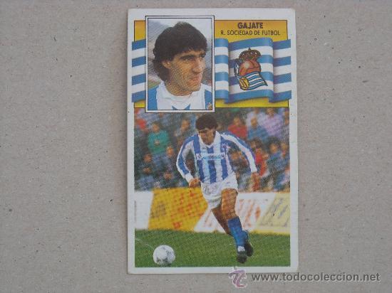 ESTE 90-91 GAJATE REAL SOCIEDAD 1990-1991 (Coleccionismo Deportivo - Álbumes y Cromos de Deportes - Cromos de Fútbol)