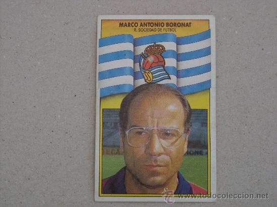 ESTE 90-91 BORONAT REAL SOCIEDAD 1990-1991 (Coleccionismo Deportivo - Álbumes y Cromos de Deportes - Cromos de Fútbol)