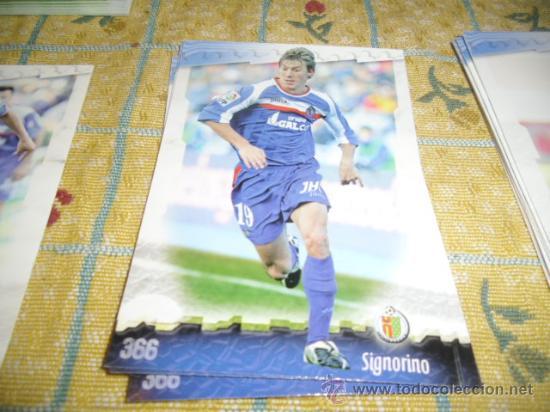 LA FICHA DE LA LIGA 2008 2009 MUNDICROMO FUTBOL GETAFE SIGNORINO (Coleccionismo Deportivo - Álbumes y Cromos de Deportes - Cromos de Fútbol)