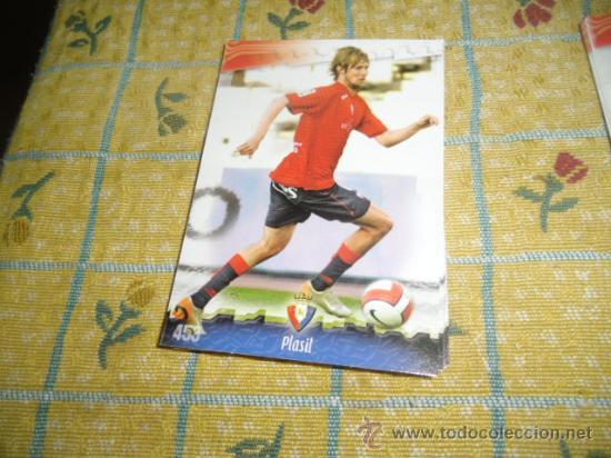 LA FICHA DE LA LIGA 2008 2009 MUNDICROMO FUTBOL OSASUNA PLASIL (Coleccionismo Deportivo - Álbumes y Cromos de Deportes - Cromos de Fútbol)