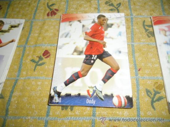 LA FICHA DE LA LIGA 2008 2009 MUNDICROMO FUTBOL OSASUNA DADY (Coleccionismo Deportivo - Álbumes y Cromos de Deportes - Cromos de Fútbol)