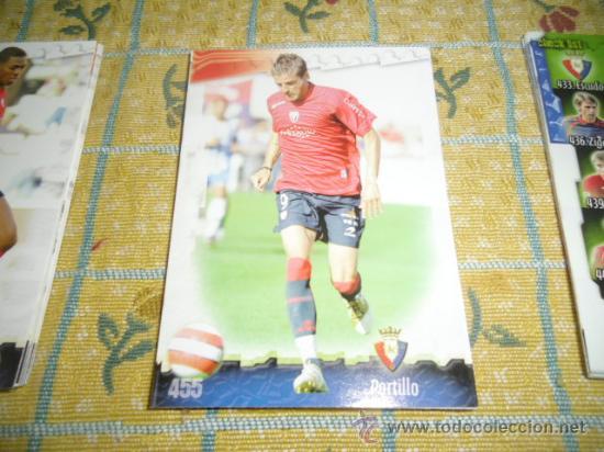 LA FICHA DE LA LIGA 2008 2009 MUNDICROMO FUTBOL OSASUNA PORTILLO (Coleccionismo Deportivo - Álbumes y Cromos de Deportes - Cromos de Fútbol)