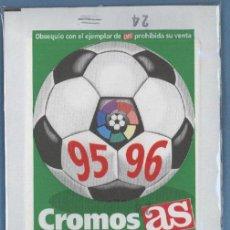 Cromos de Fútbol: CROMOS DE LA LIGA 95 96 - AS. Lote 28809097