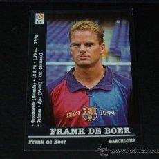 Cromos de Fútbol: LIGA 2000-2001 - 22 FRANK DE BOER - FC. BARCELONA - PANINI - . Lote 29011565