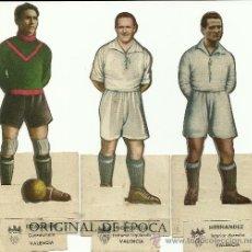 Cromos de Fútbol: (F-614)CROMOS TROQUELADOS AS DEL VALENCIA C.F. ASES DEL FUTBOL A 18 EUROS LA UNIDAD. Lote 235407475