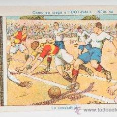 Cromos de Fútbol: CROMO DE FÚTBOL, COMO SE JUEGA A FOOT-BALL Nº 24 - PUBLICIDAD CHOCOLATES TORRAS. Lote 29078139