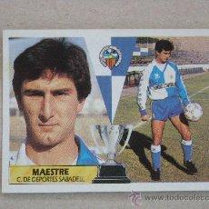 Cromos de Fútbol: ESTE 87-88 MAESTRE SABADELL 1987-1988 NUEVO. Lote 29305811