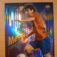 Cromos de Fútbol: 595 - MESSI (FC BARCELONA) TOP AZUL SECURITY MUNDICROMO QUIZ GAME 2009 2010 LIMITADA 09 10 LIMITED. Lote 39296869