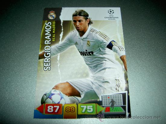 sergio Ramos Adrenalyn XL Champions League 11//12
