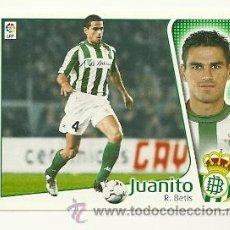 Cromos de Fútbol: EDICIONES ESTE 2004-2005 JUANITO (BETIS) LIGA 04-05 CROMOS . Lote 29690739