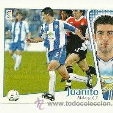 Cromos de Fútbol: EDICIONES ESTE 2004-2005 JUANITO (MALAGA) LIGA 04-05 CROMOS . Lote 29695827