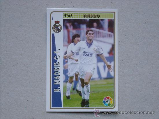 FICHAS LIGA 94-95 Nº 65 HIERRO REAL MADRID MUNDICROMO 1994-1995 NUEVO (Coleccionismo Deportivo - Álbumes y Cromos de Deportes - Cromos de Fútbol)