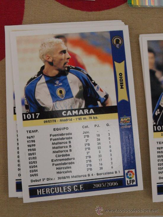 1017 CAMARA HERCULES MUNDICROMO FICHAS LIGA 2005-06 05-06 NUEVO (Coleccionismo Deportivo - Álbumes y Cromos de Deportes - Cromos de Fútbol)