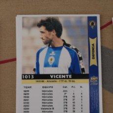 Cromos de Fútbol: 1013 VICENTE HERCULES MUNDICROMO FICHAS LIGA 2005-06 05-06 NUEVO. Lote 29896700
