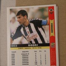 Cromos de Fútbol: 1033 RODRI CASTELLON MUNDICROMO FICHAS LIGA 2005-2006 05-06 NUEVO. Lote 29907814