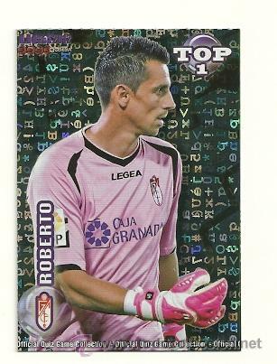 549 ROBERTO (GRANADA) AZUL FONDO LETRAS MUNDICROMO 2011 2012 QUIZ GAME PLATINUM 11 12 (Coleccionismo Deportivo - Álbumes y Cromos de Deportes - Cromos de Fútbol)