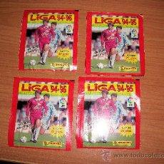 Cromos de Fútbol: 4 SOBRES DE CROMOS SIN ABRIR DE LA COLECCION LIGA 1994 1995 ( 94 - 95 ) SOBRE DE PANINI. Lote 70541989