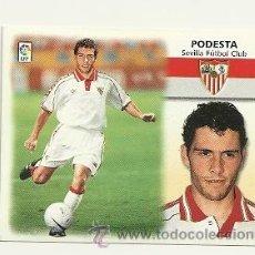 Cromos de Fútbol: EDICIONES ESTE 1999-2000 FICHAJE Nº34 PODESTA (SEVILLA) LIGA 99-00 CROMOS . Lote 60711314