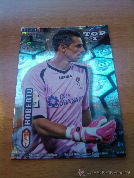 549 - ROBERTO (GRANADA CF) AZUL LETRAS MUNDICROMO QUIZ GAME LIGA 2011-2012 - (Coleccionismo Deportivo - Álbumes y Cromos de Deportes - Cromos de Fútbol)