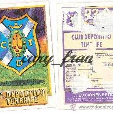 Cromos de Fútbol: ESTE 1993 1994 93 94 TENERIFE ESCUDO . Lote 30355088