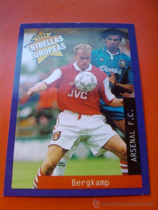 59 - BERGKAMP (ARSENAL) ESTRELLAS EUROPEAS 1996 PANINI CROMOS 96 - (Coleccionismo Deportivo - Álbumes y Cromos de Deportes - Cromos de Fútbol)