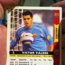 Cromos de Fútbol: CROMO FUTBOL BARCELONA PORTERO VICTOR VALDES - CHROME DOOR SOCCER BARCELONA VICTOR VALDES. Lote 30573097