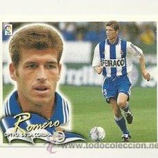 Cromos de Fútbol: EDICIONES ESTE 2000-2001 ROMERO (DEPORTIVO LA CORUÑA) LIGA 00-01 CROMOS . Lote 30730640