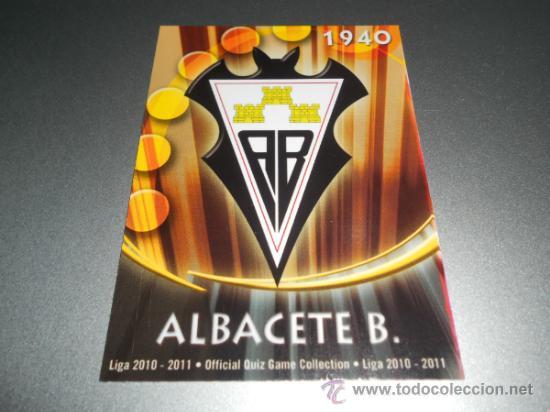 1006 ESCUDO MATE ALBACETE CROMOS MUNDICROMO LIGA FUTBOL QUIZ GAME PLATINUM 2010 2011 10 11 (Coleccionismo Deportivo - Álbumes y Cromos de Deportes - Cromos de Fútbol)