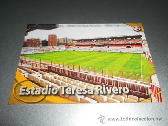 923 ESTADIO TERESA RIVERO MATE RAYO VALLECANO CROMOS MUNDICROMO QUIZ GAME 2010 2011 10 11 (Coleccionismo Deportivo - Álbumes y Cromos de Deportes - Cromos de Fútbol)