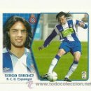 Cromos de Fútbol: EDICIONES ESTE 2005-2006 SERGIO SANCHEZ (ESPAÑOL) LIGA 05-06 CROMOS . Lote 160859377