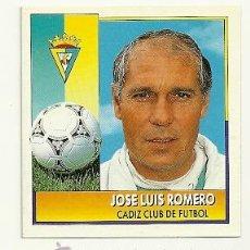 Cromos de Fútbol: EDICIONES ESTE 1992-1993 JOSE LUIS ROMERO (CADIZ) COLOCA LIGA 92-93 CROMOS . Lote 31160398