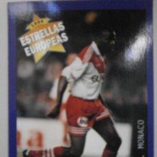 Cromos de Fútbol: CROMOS DE FUTBOL ESTRELLAS EUROPEAS 1996 CROMO Nº115 BOLI AS MONACO A-CR-1174. Lote 277724703