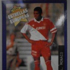 Cromos de Fútbol: CROMOS DE FUTBOL ESTRELLAS EUROPEAS 1996 CROMO Nº117 ANDERSON AS MONACO A-CR-1176. Lote 277724718
