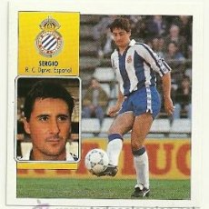 Cromos de Fútbol: EDICIONES ESTE 1992-1993 SERGIO (ESPAÑOL) LIGA 92-93 CROMOS . Lote 31357325