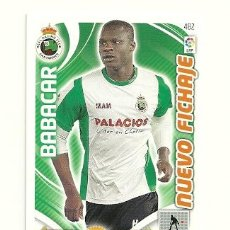 Cromos de Fútbol: ADRENALYN XL 2011-2012 Nº482 BABACAR (RACING) NUEVO FICHAJE LIGA 11 12 CROMOS . Lote 31365240