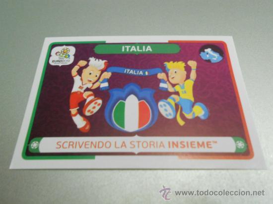 39 LOGO MASCOTA ITALIA CROMOS FUTBOL EURO2012 EURO 2012 POLONIA UCRANIA POLAND UKRAINE PANINI (Coleccionismo Deportivo - Álbumes y Cromos de Deportes - Cromos de Fútbol)