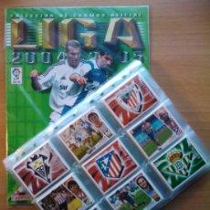 Cromos de Fútbol: COLECCION COMPLETA LIGA ESTE 2004-2005 PANINI - ALBUM VACIO + TODOS CROMOS SIN PEGAR 04 05. Lote 31593454