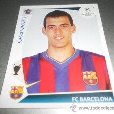 Cromos de Fútbol: 357 SERGIO BUSQUETS F.C. BARCELONA CROMOS LIGA CAMPEONES CHAMPIONS LEAGUE 2009 2010 09 10 PANINI. Lote 53942719