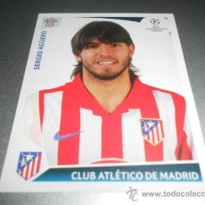 Cromos de Futebol: 256 SERGIO AGUERO AT. MADRID CROMOS ALBUM LIGA CAMPEONES CHAMPIONS LEAGUE 2009 2010 09 10 PANINI. Lote 217303395