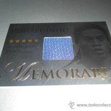 Cromos de Fútbol: EDICION LIMITADA RONALDINHO MEMORABLE SUPER HEROES BRASIL BRAZIL METALIZADO CROMOS FUTERA 2012. Lote 167547384